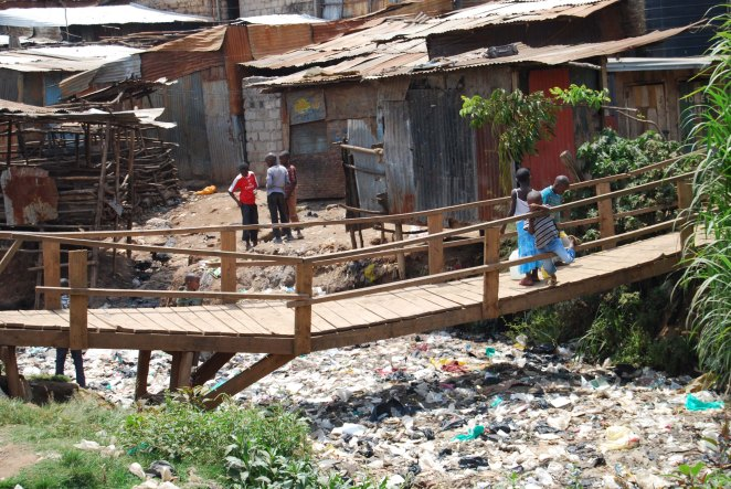 Mathare Valley river