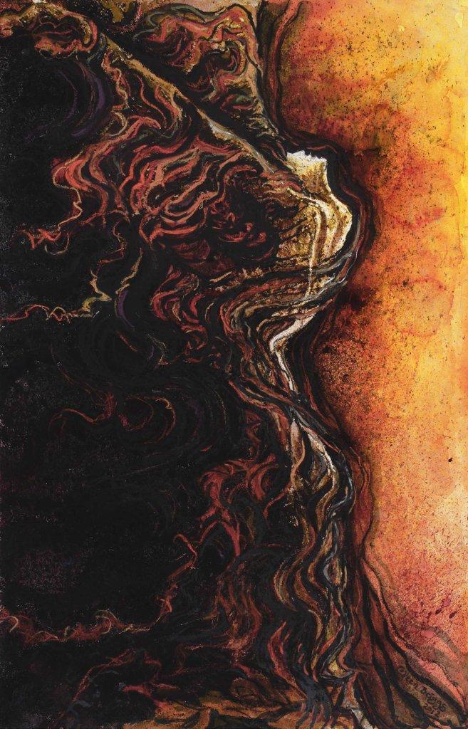 "Free Indeed, 2012, 14"" x 22"", watercolor, ink, pastel (original sold)"