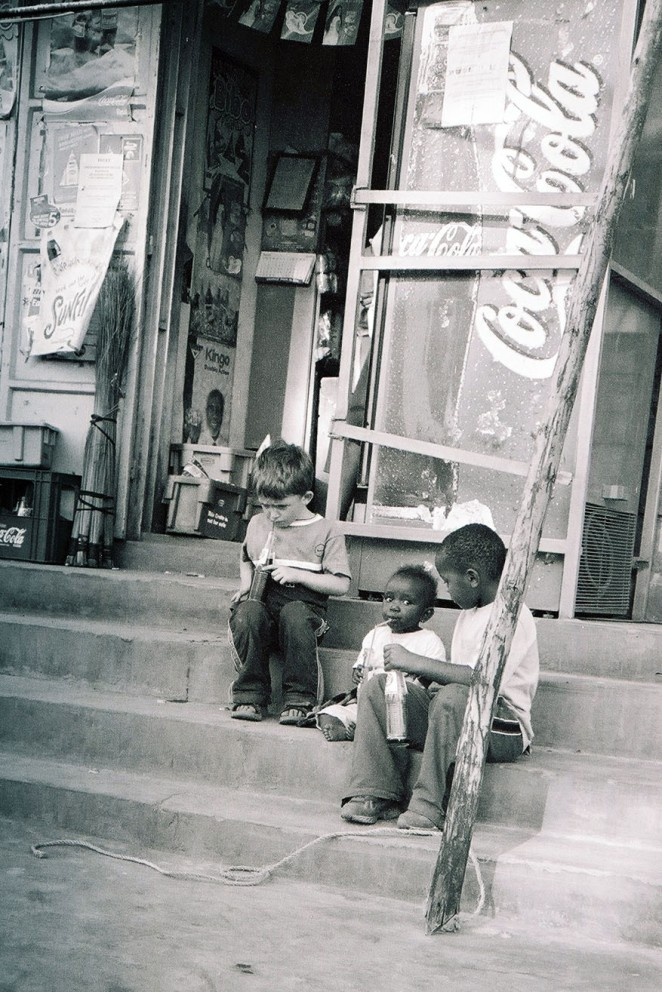 Soda outings with my little ones, Kenya 2005