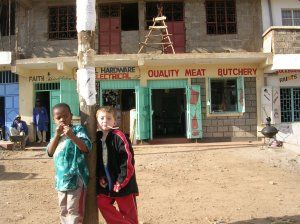 "Our ""twins"" hanging out in Kasarani, Kenya, 2005."