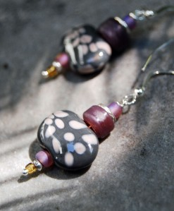 Kazuri bead earring design, fall 2013