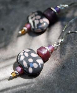 Kazuri bead earring design, fall 2013