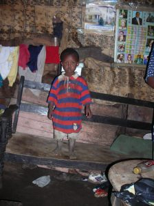 David at his home in Mathare, 2006, photo by SoH staff