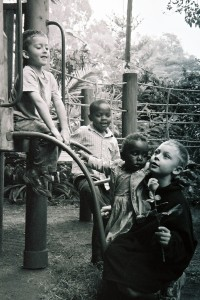 My four kids in Nairobi, 2005. (c) Colleen Briggs