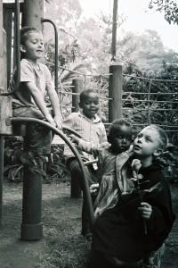 My four kids in Nairobi, 2005. (c) Colleen Briggs