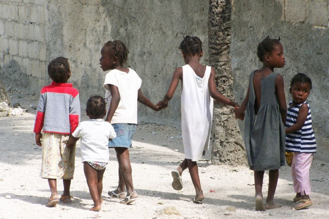 Children in Pele, Cite Soleil, (c) Julie Scott 2014