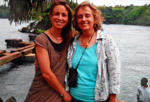 My mom and me at the Nile River, Uganda, 2007.