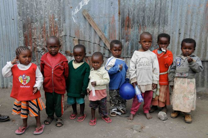 Mathare Valley children on evaluation day for SoH #2. Photo by Melissa Lemke.