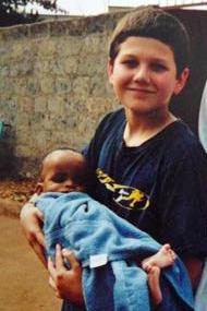Sammy 2002, 10 months old, with Jesse Lee