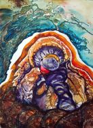 "Quelled, 2014, 11"" x 15', watercolor"