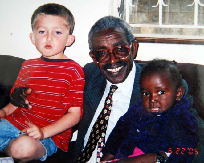Pastor Karau with Justin and Lily, 2005