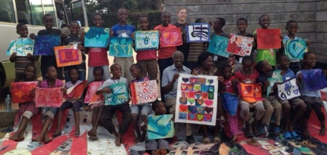 SoH family with heart painting