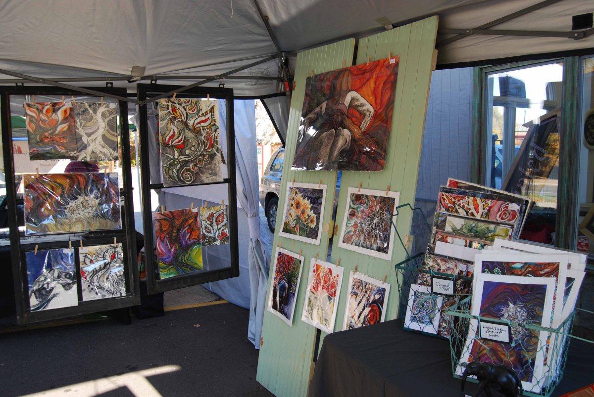 Outdoor Market Selling Art Colleen Briggs