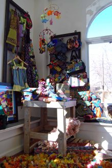 Pamba Toto products ([I'm a co-founder of this business to empower Kenyan artisans and generate funding for Sanctuary of Hope homes for orphans in Kenya) displayed at Sincerely Danielle Shunk in Colorado Springs