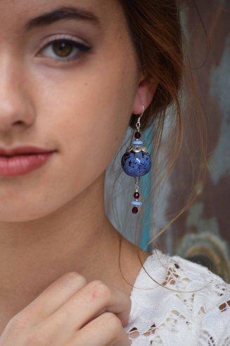 Kazuri earring, modeled by Brittin Lane of Nxt/Model