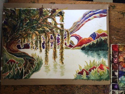 The Willow Tree, in process