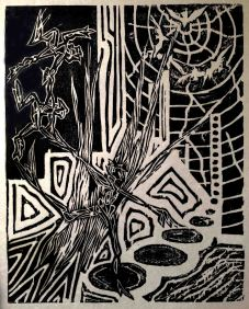 Woodcut, around 1991