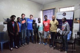 My dear friends, Isaac and Mitch, who I met when they were 8 years old, teaching a videography workshop in Mathare.