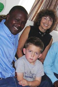 Michael, Justin, and my mother-in-law, 2005