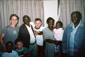 Me and my family with Pastor and Mama Karau, 2006